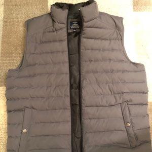 J Crew Grey Down Vest